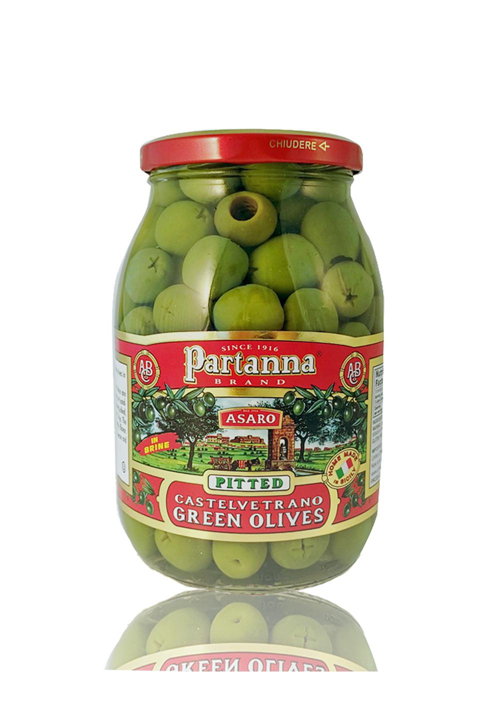 Partanna Castelvetrano Green Pitted Olives