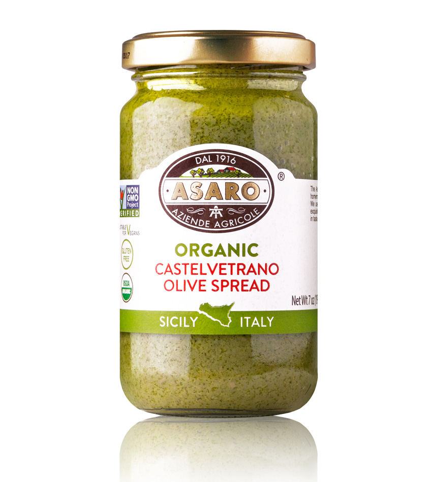 Asaro Farm USDA ORGANIC Castelvetrano Olive Spread