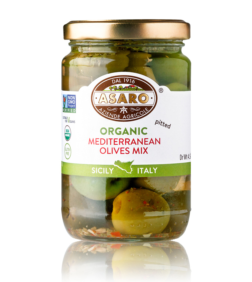 Asaro Farm ORGANIC Mediterranean Mix Pitted Olives
