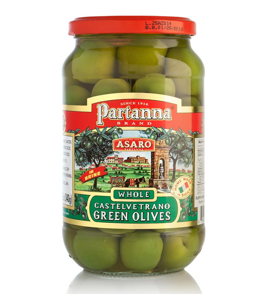 Partanna Castelvetrano Green Whole Olives