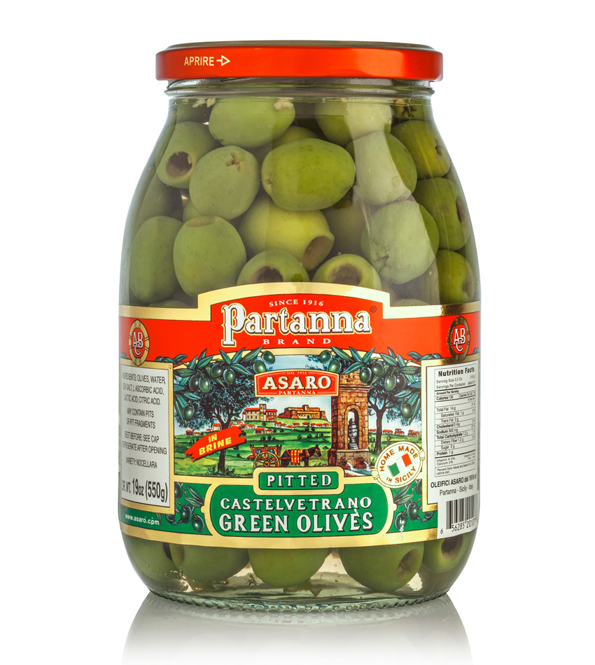 Partanna Castelvetrano Green Pitted Olives