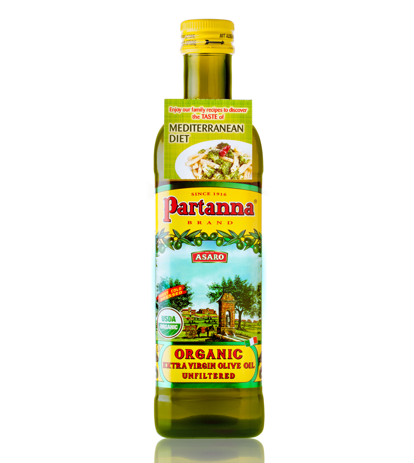 Partanna Organic Unfiltered Extra Virgin Olive Oil
