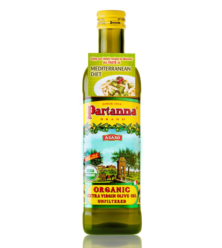 Partanna Organic Unfiltered Extra Virgin Olive Oil